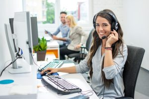 remote IT support technician on phone